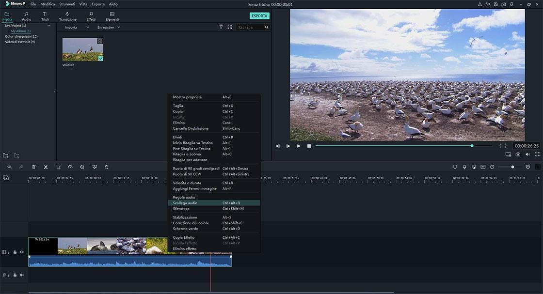 estrarre audio dal video