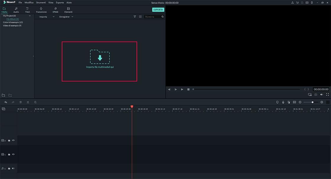 importa il video o i video nel video cutter e splitter
