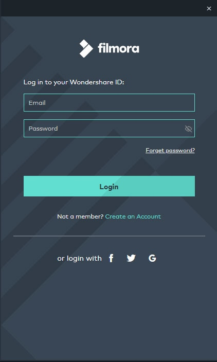 create a wondershare id
