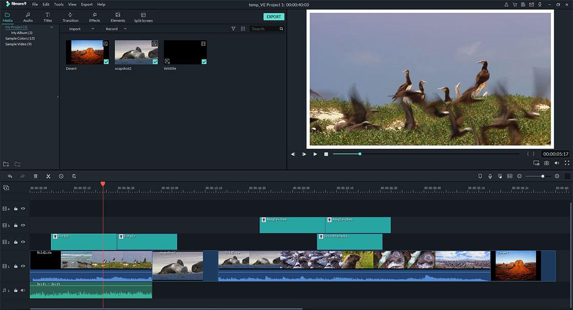 merge videos in Filmora Video Editor