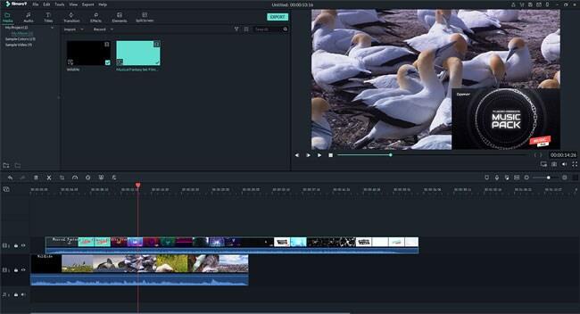 use picture-in-picture in Filmora Video Editor