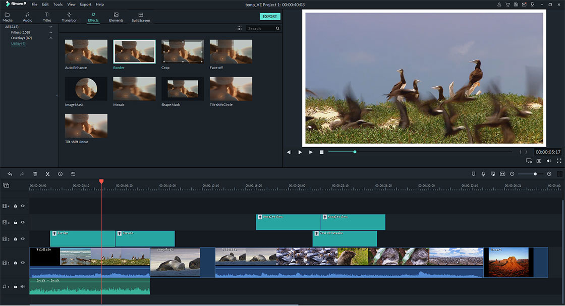 video effects of filmora