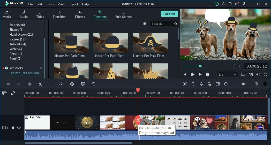 quick split video clips