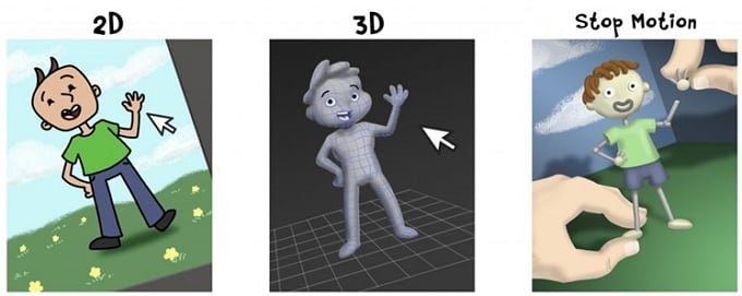 stop motion 2d and 3d