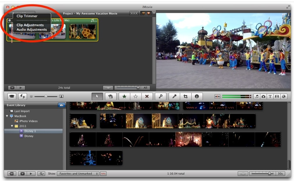 add beat markers in imovie