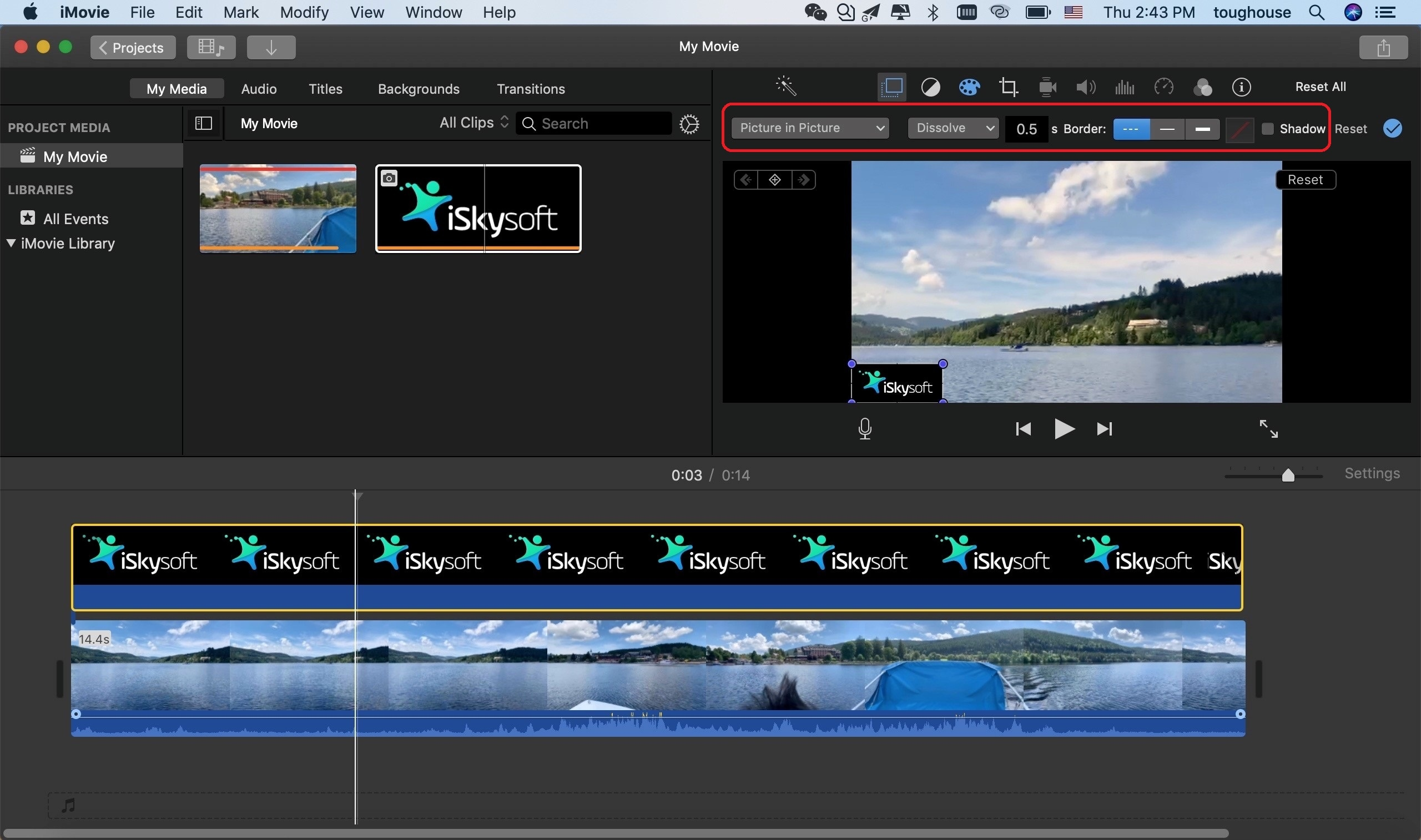 How To Make and Add a Watermark/Logo to Video in iMovie