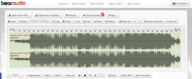 audio files editing online