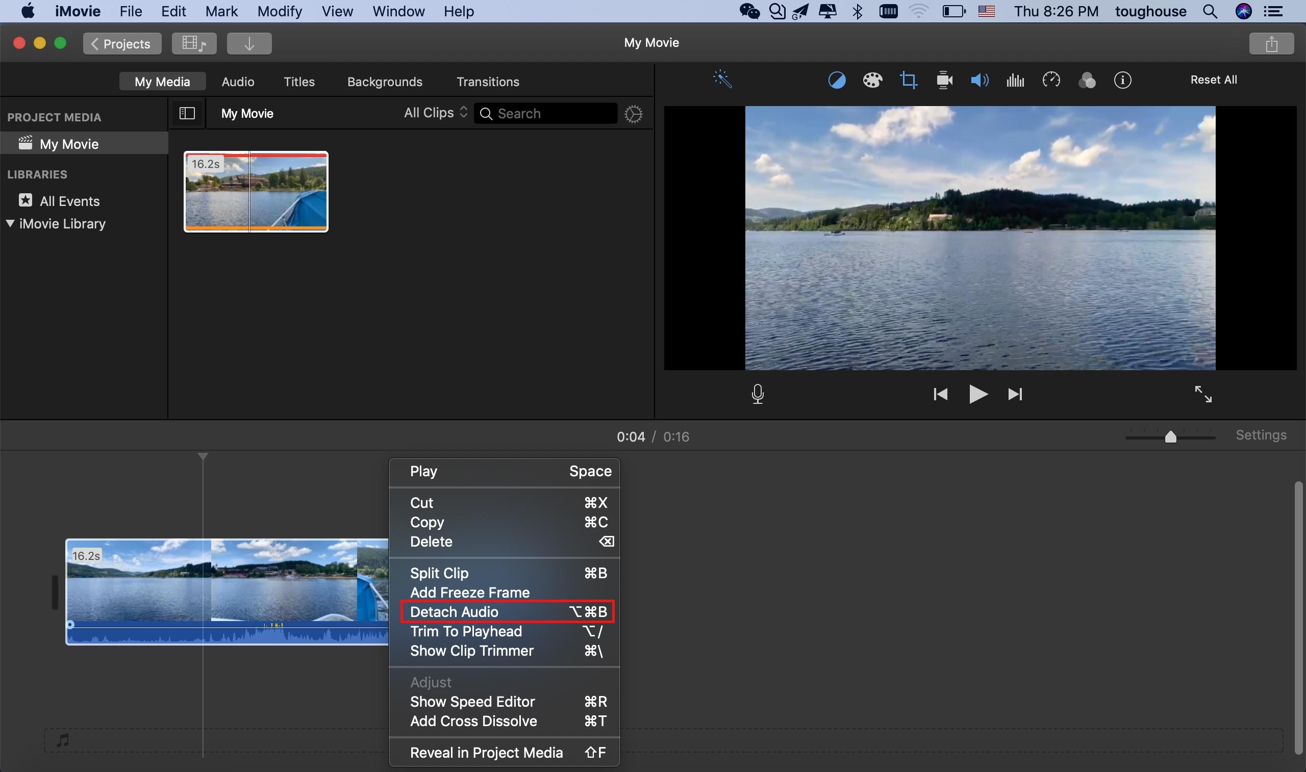 Comment mettre en sourdine le bruit de fond vidéo/audio dans iMovie