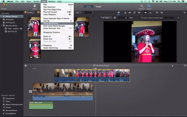 audio editing software iMovie
