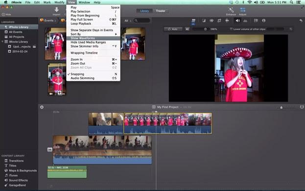 logiciel d'édition audio iMovie