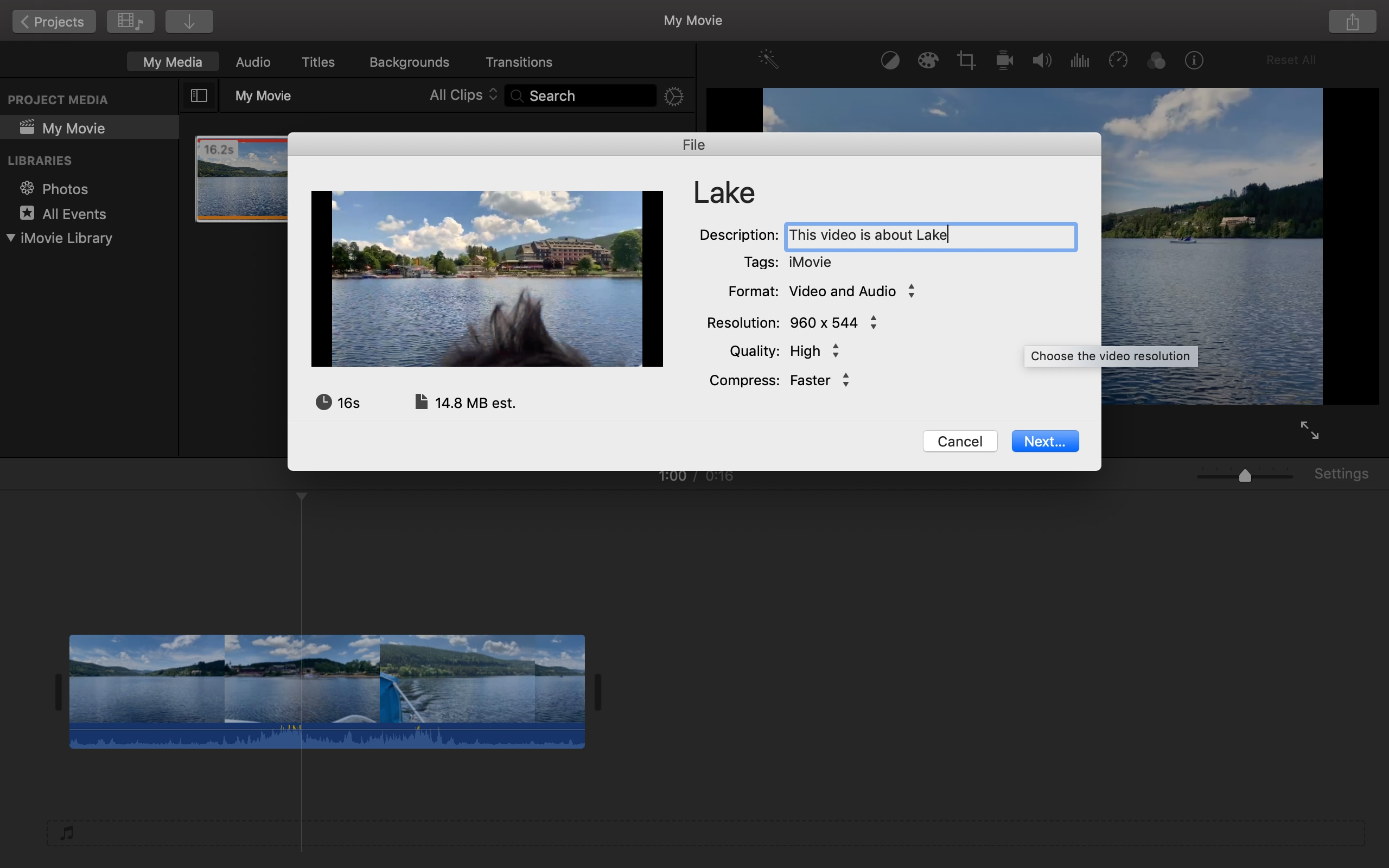 export video to youtube in imovie