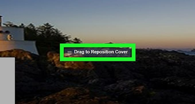 repositioned Facebook profile and cover video
