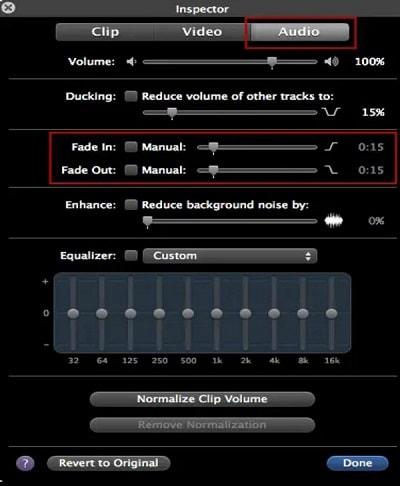 fade music on mac