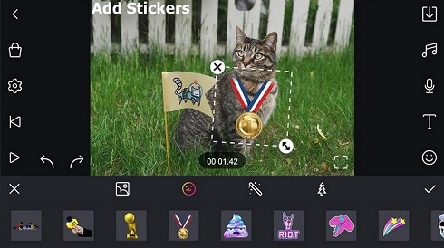 sticker video app
