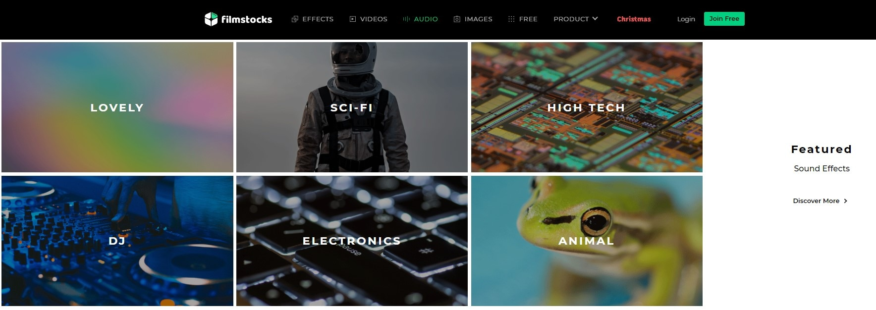 Filmstock sound effects web