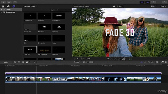 add text to video final cut pro
