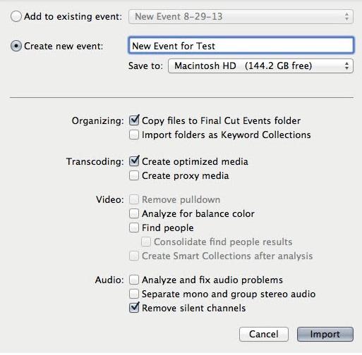 final cut pro edit gopro 4k video