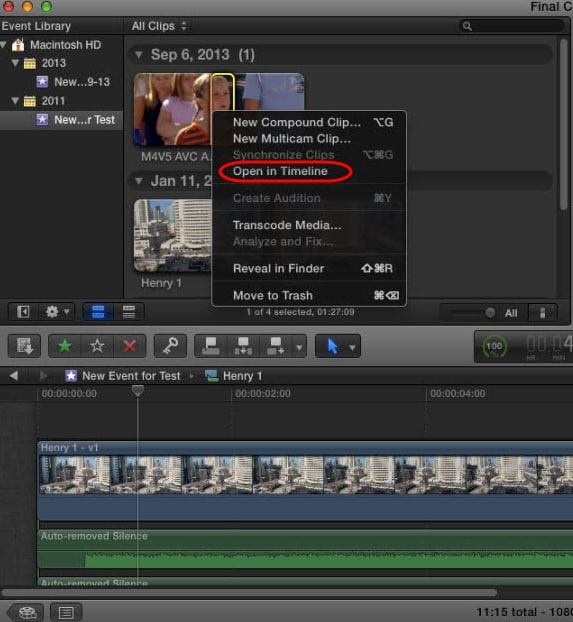 rotate video in fcp