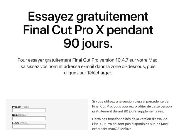 final cut pro gratuit