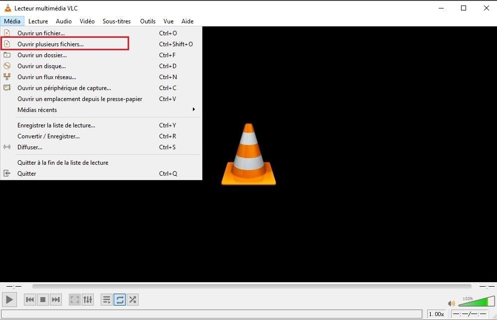 fusionner les fichiers avec vlc