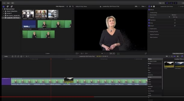 how to use the green screen in final cut pro