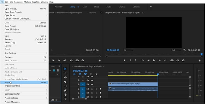 import video to adobe premiere