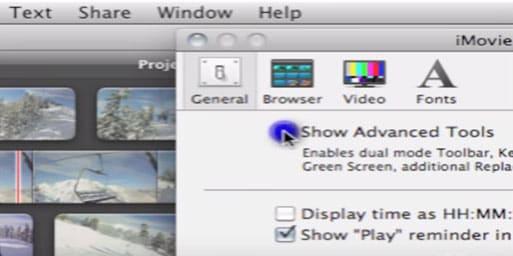 enable video overlay option