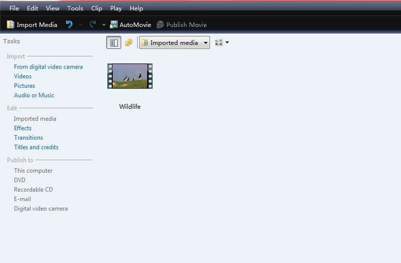import files into windows movie maker