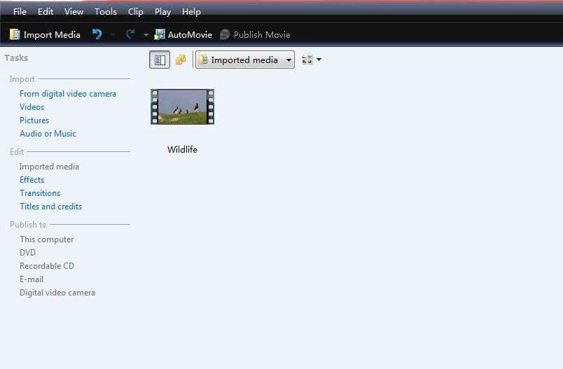 mediadateien in windows movie maker importieren