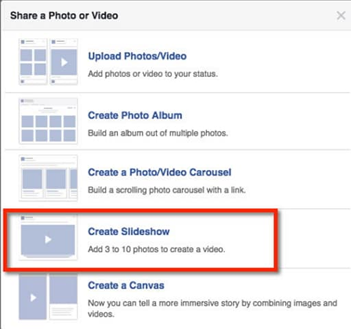 create photo slideshow