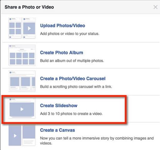 create photo slideshow
