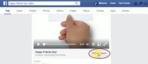 make facebook friendship video