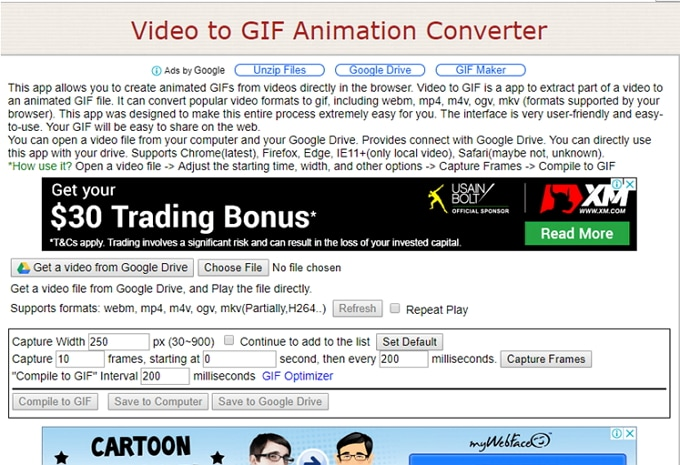 select facebook video to convert to GIF