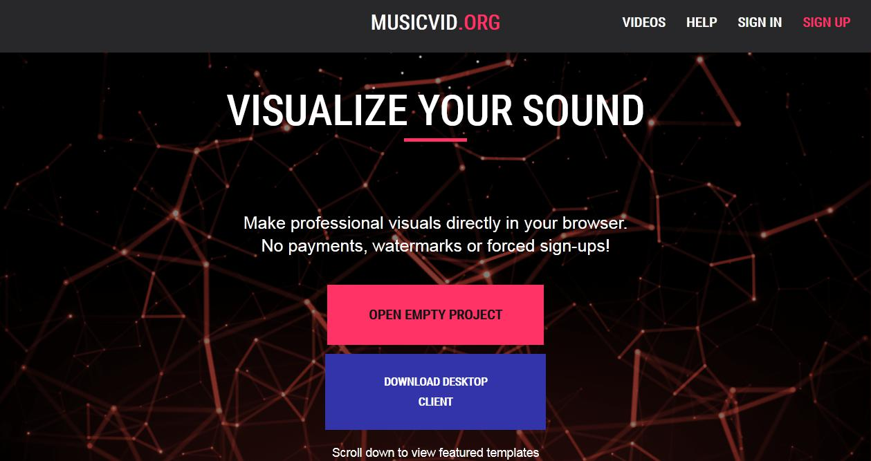 music visualizer website