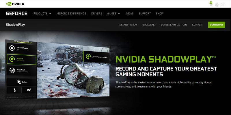nividia shadow play