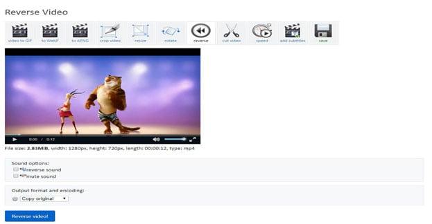 reverse video online