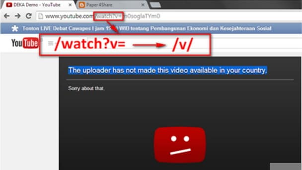 youtube video not available