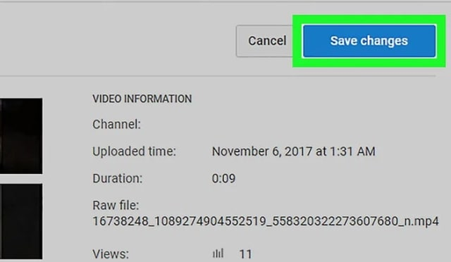 change YouTube thumbnail pictures