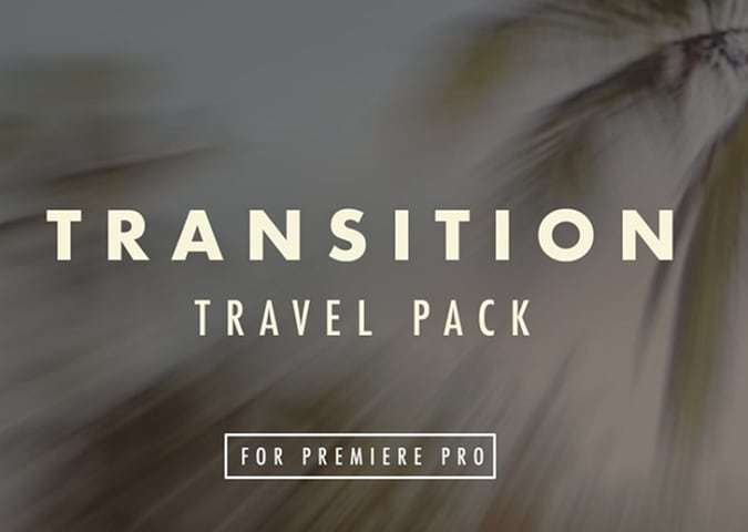 Travel Film Transition Pack preset