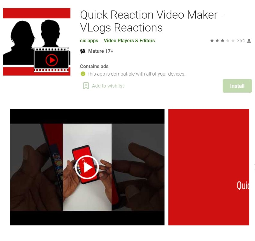 quick reaction video maker