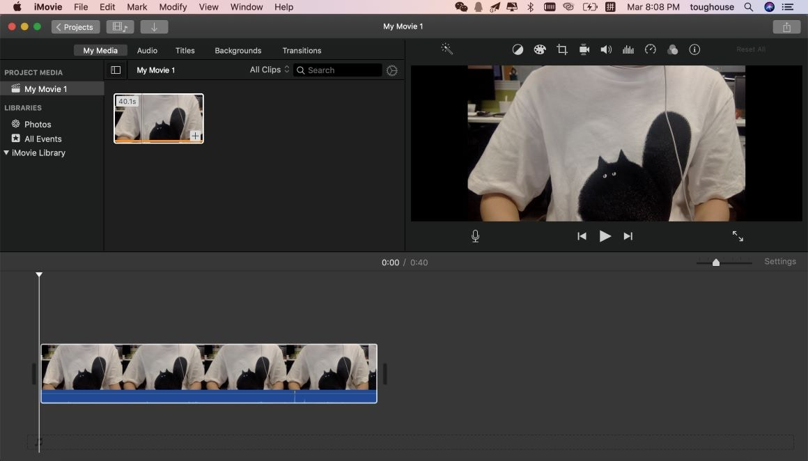 record audio in imovie