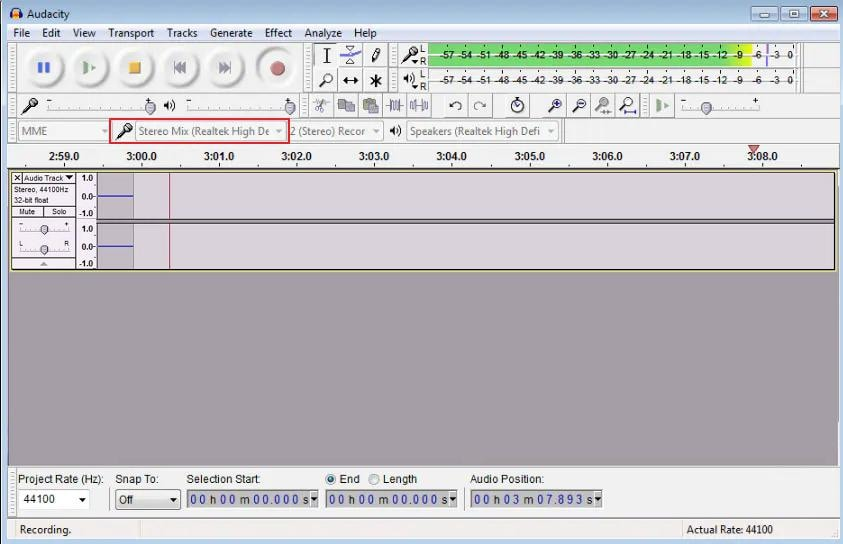 how to record youtube audio with audacity