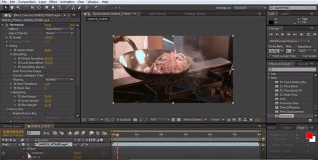 video vertragen in after effects