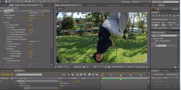 voeg effecten toe aan de slow motion-video