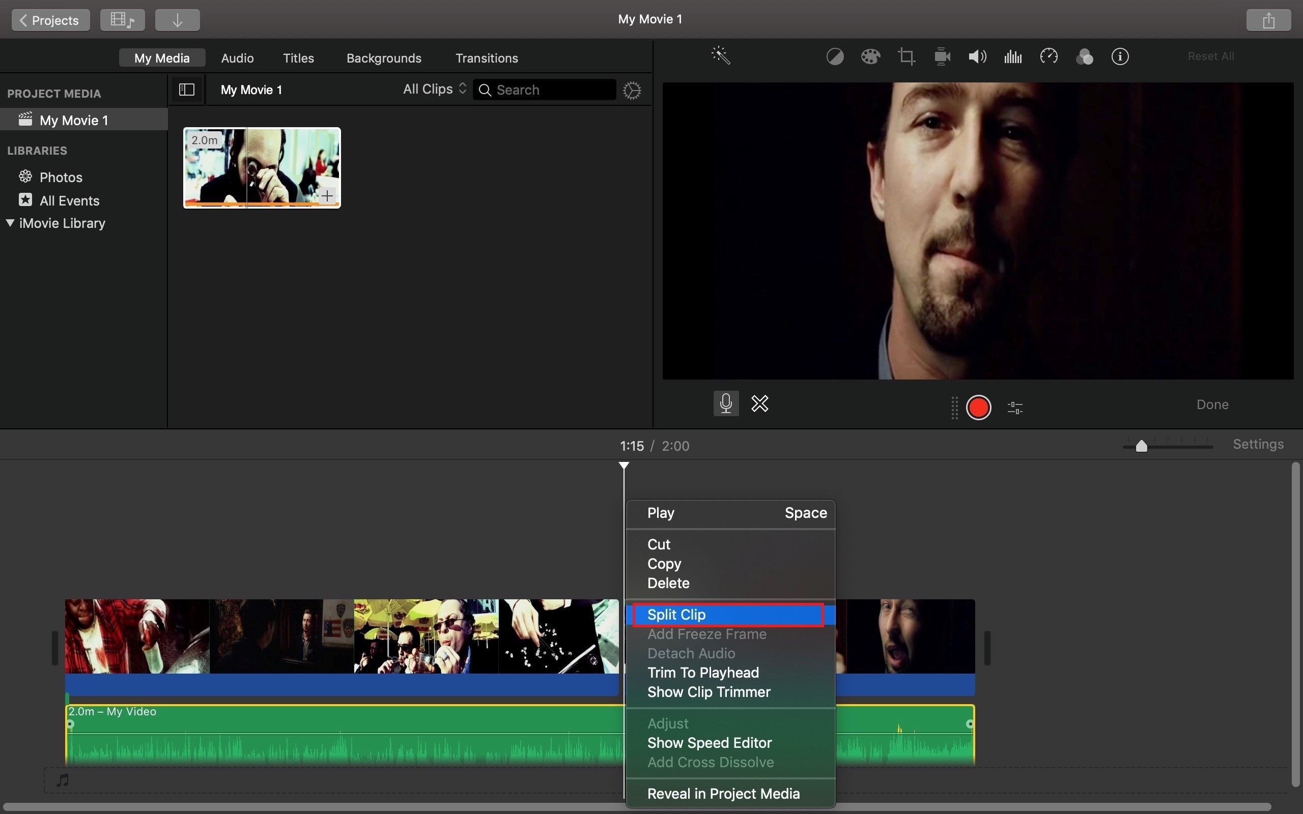 split audio to bleep out words in imovie
