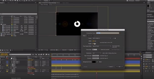 glisser des métrages dans after effects