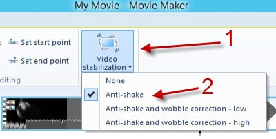 windows movie maker stabilize video