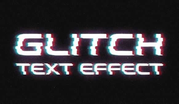 texte glitch
