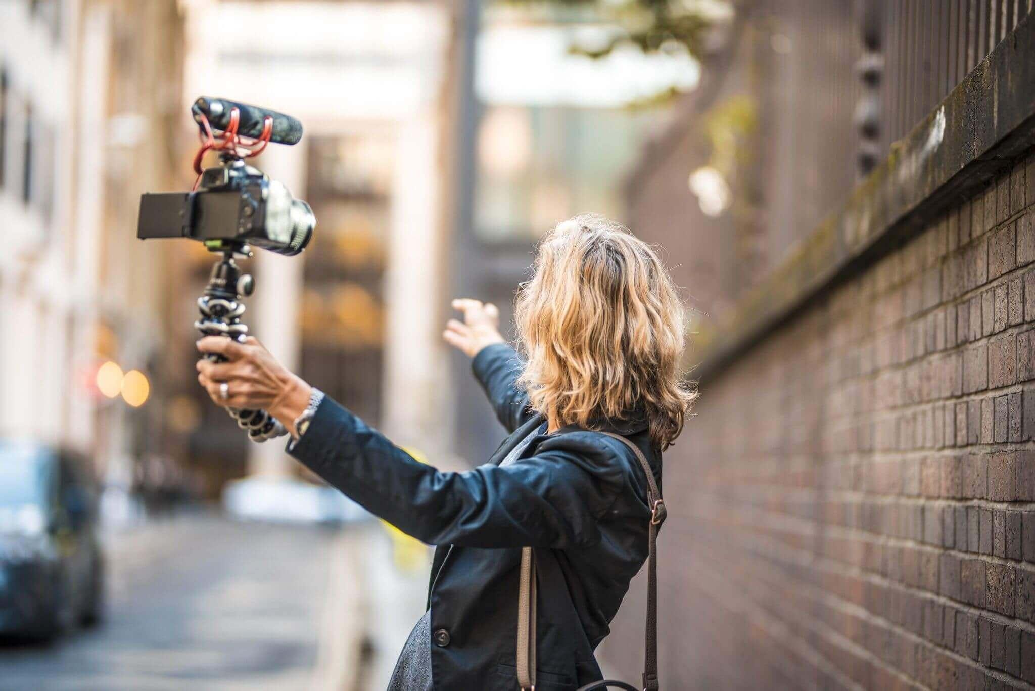 travel vlogging intro