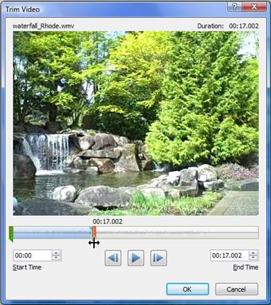 trim video in powerpoint